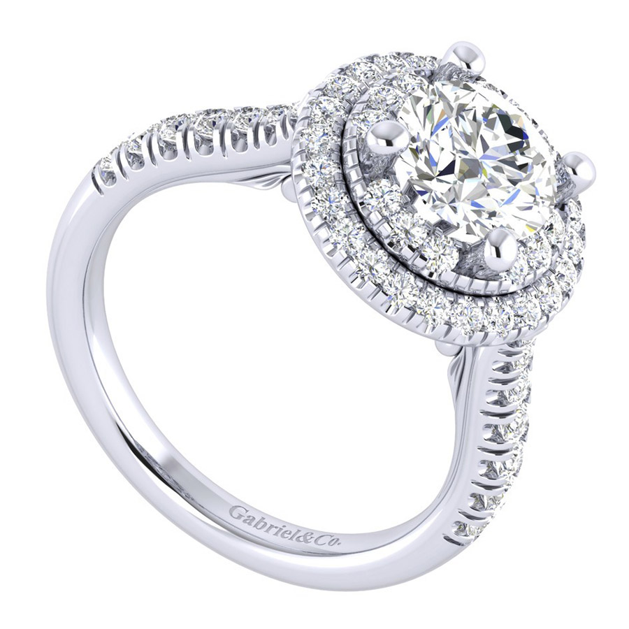 Gabriel 14 Karat Perfect Match Engagement Ring ER039C6AIW44JJ Alternative View 2