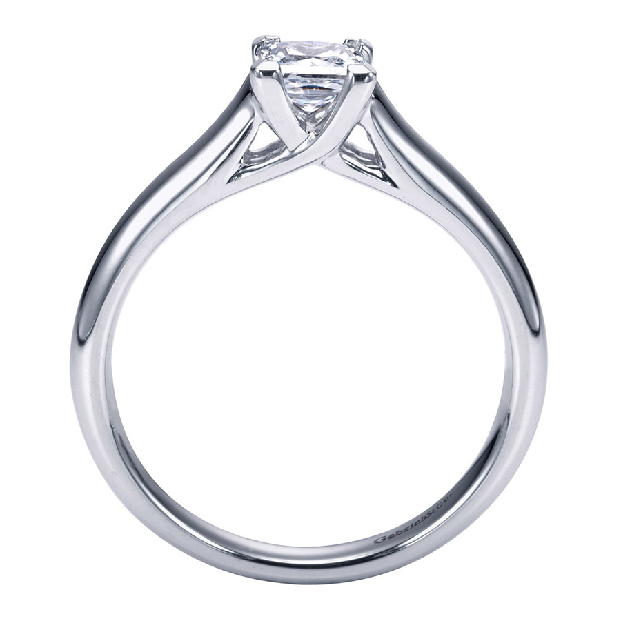 Gabriel Platinum Contemporary Engagement Ring ER6604PTJJJ Alternative View 1