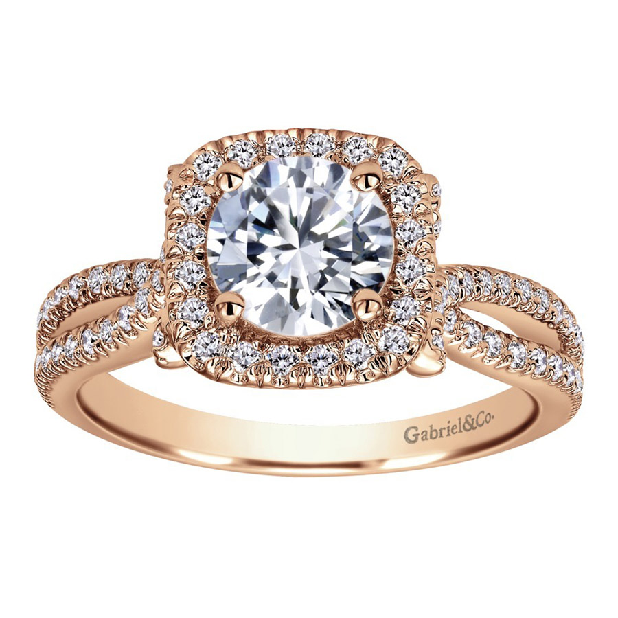 Gabriel 14 Karat Contemporary Engagement Ring ER7806K44JJ Alternative View 4