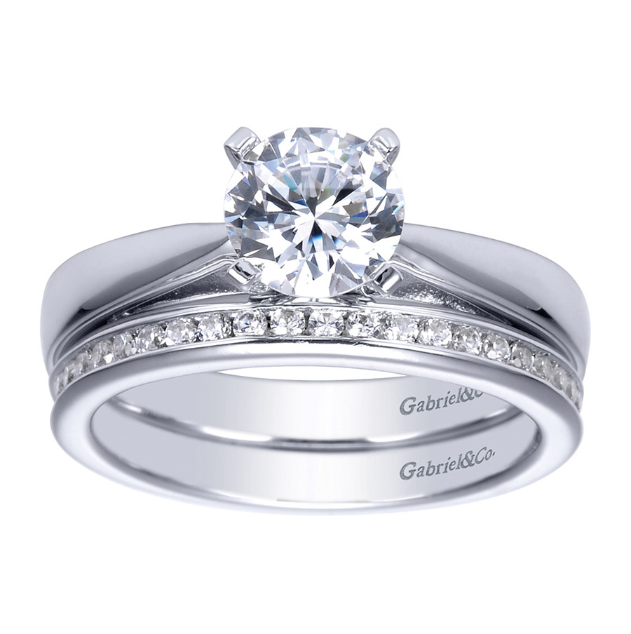 Gabriel Platinum Contemporary Engagement Ring ER8132PTJJJ Alternative View 3