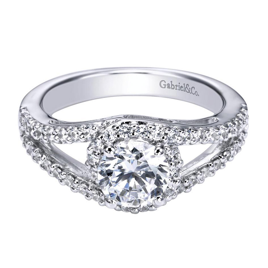 Gabriel 14 Karat Contemporary Engagement Ring ER5999W44JJ