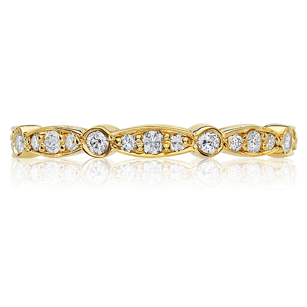 Tacori 47-2ETY 18 Karat Sculpted Crescent Diamond Wedding Band