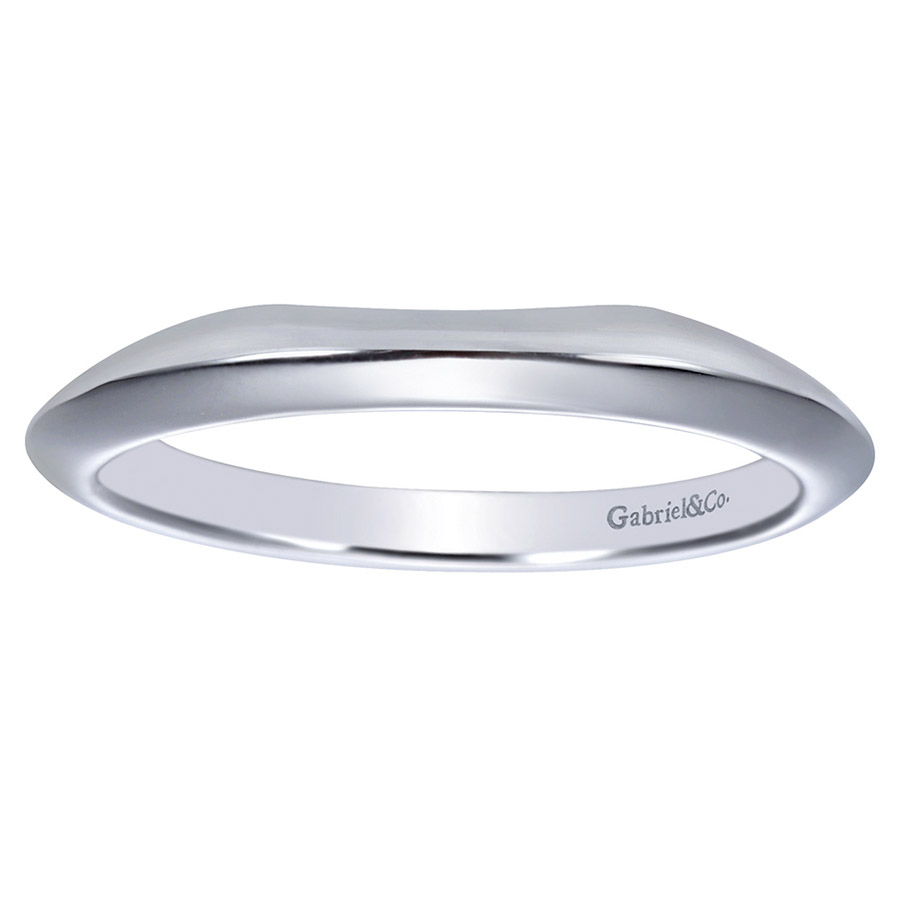Gabriel Platinum Contemporary Wedding Band WB7995PTJJJ Alternative View 4