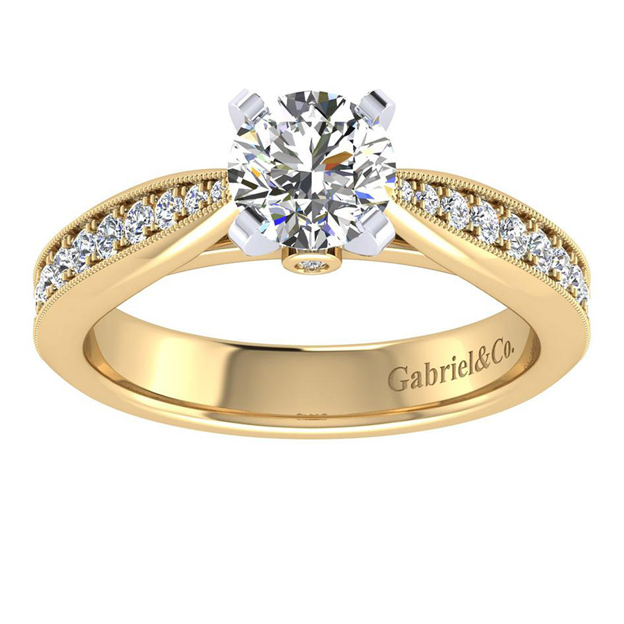 Gabriel 14 Karat Victorian Engagement Ring ER7535M44JJ Alternative View 4