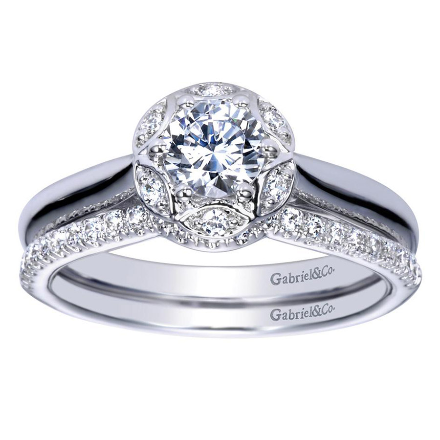 Gabriel 14 Karat Contemporary Engagement Ring ER98585W44JJ Alternative View 3