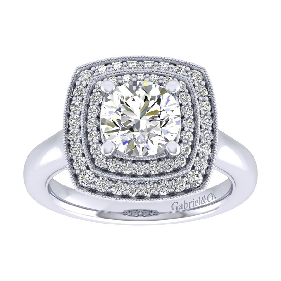 Gabriel 14 Karat Perfect Match Engagement Ring ER009C6AGW44JJ Alternative View 4