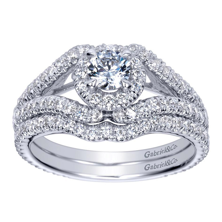 Gabriel 14 Karat Contemporary Engagement Ring ER98506W44JJ Alternative View 3