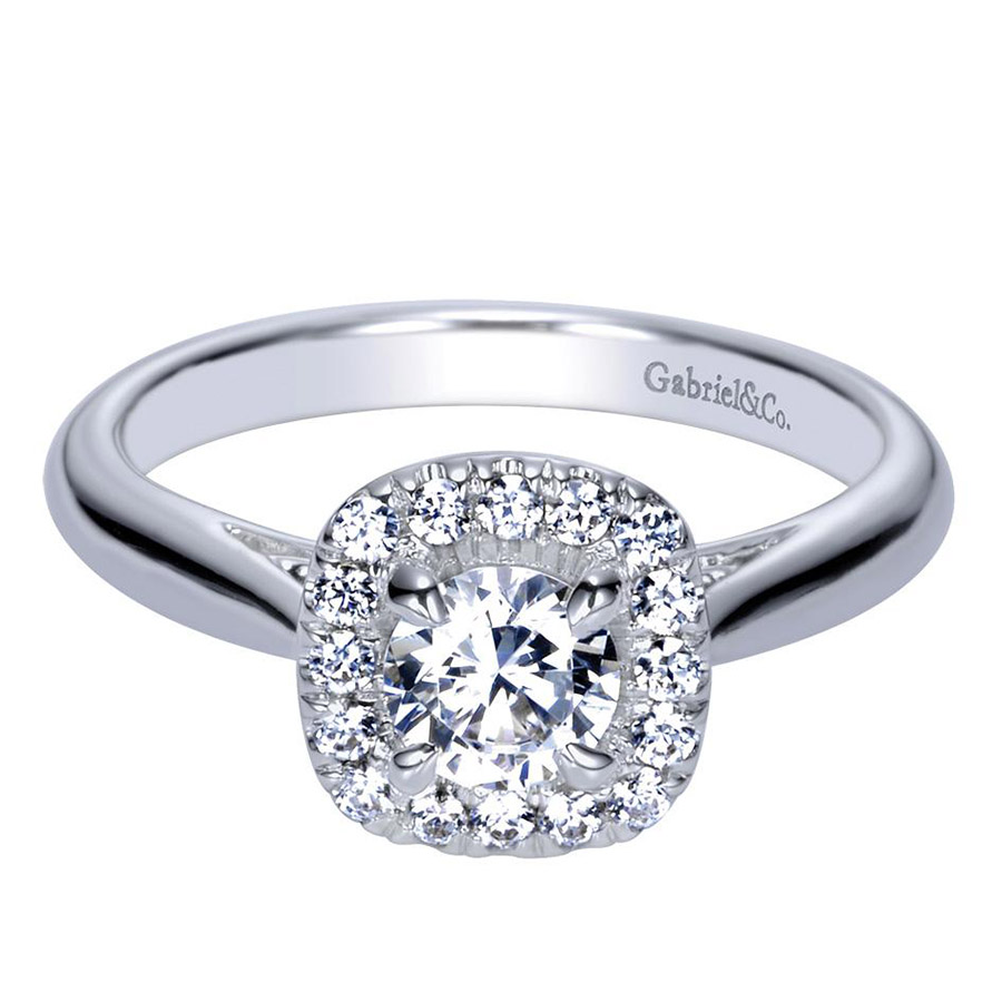 Gabriel 14 Karat Contemporary Engagement Ring ER98706W44JJ