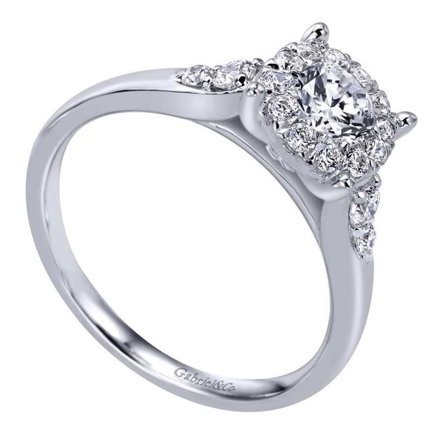 Gabriel 14 Karat Contemporary Engagement Ring ER910940W44JJ Alternative View 2