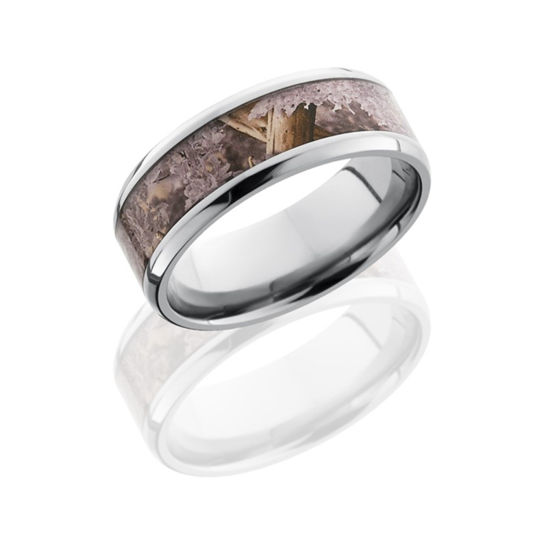 Lashbrook 8B15(NS)/KINGSDESERT POLISH Titanium Wedding Ring or Band
