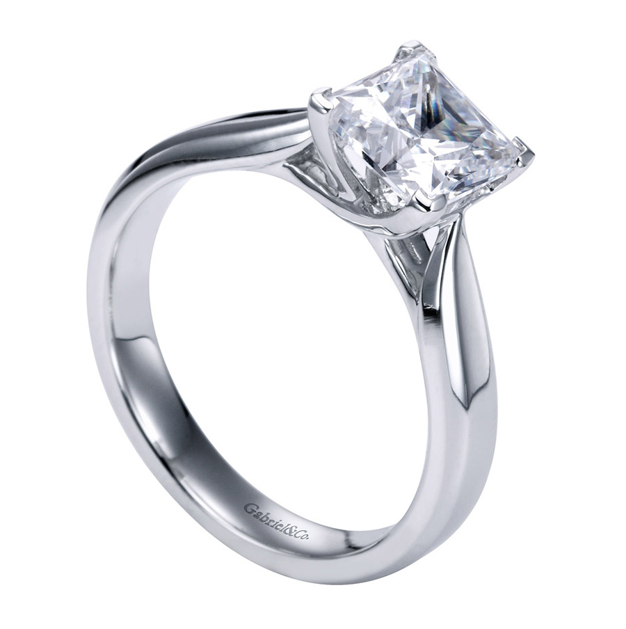 Gabriel Platinum Contemporary Engagement Ring ER6597PTJJJ Alternative View 2