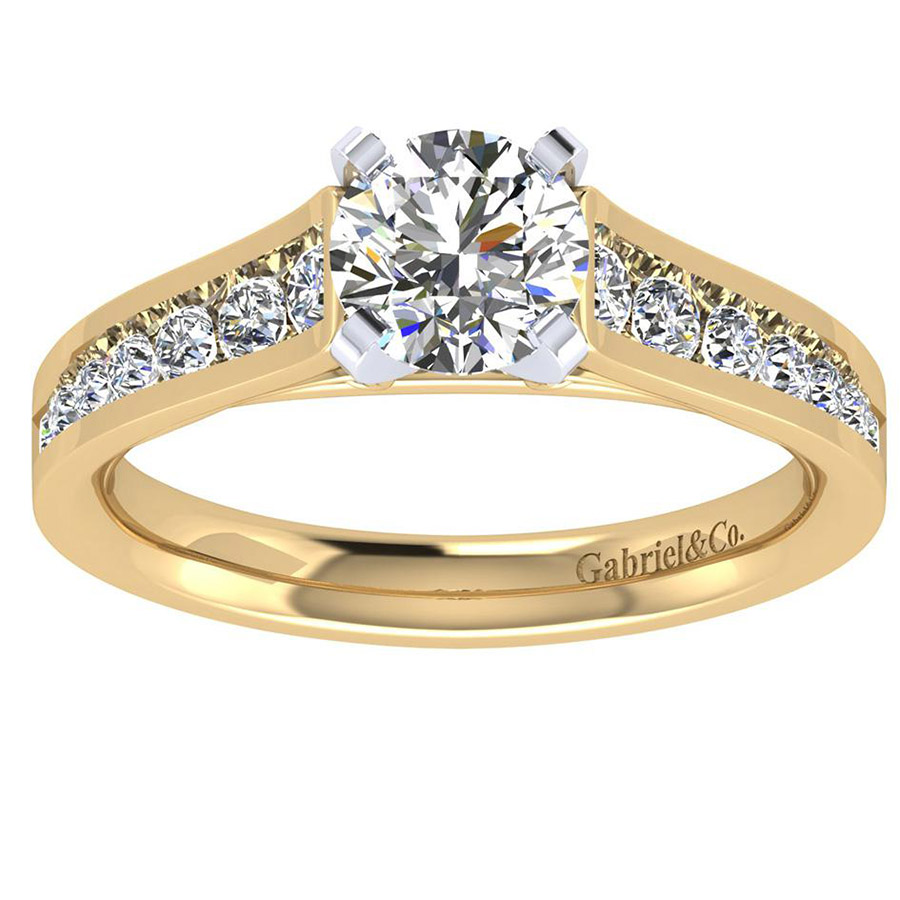 Gabriel 14 Karat Contemporary Engagement Ring ER8224M44JJ Alternative View 4