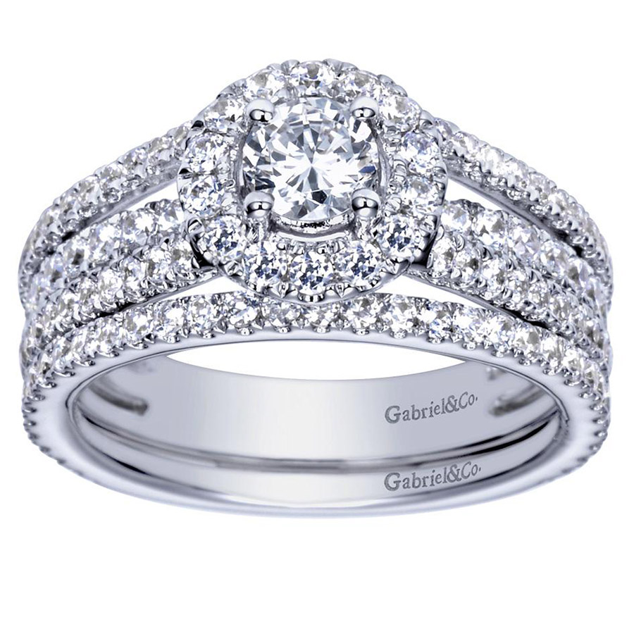 Gabriel 14 Karat Contemporary Engagement Ring ER98535W44JJ Alternative View 3
