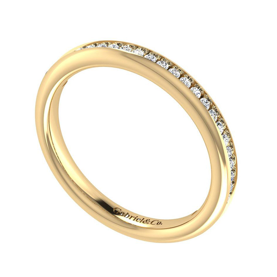 Gabriel 14 Karat Contemporary Wedding Band WB7449Y44JJ Alternative View 2