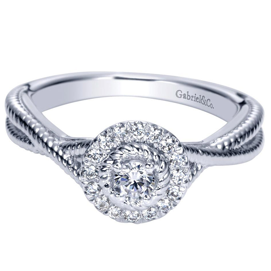 Gabriel 14 Karat Contemporary Engagement Ring ER98441W44JJ