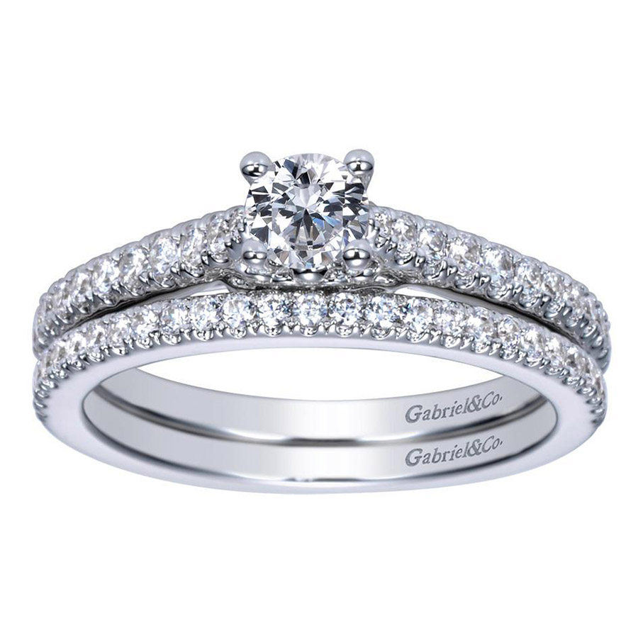 Gabriel 14 Karat Contemporary Engagement Ring ER98574W44JJ Alternative View 3