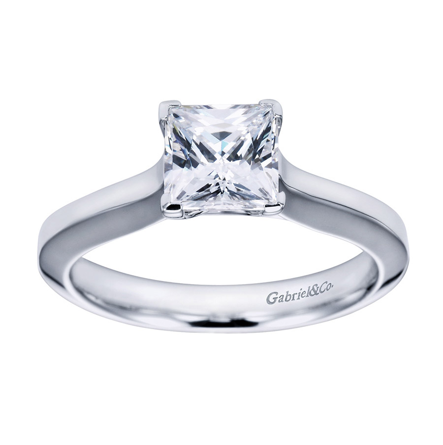 Gabriel Platinum Contemporary Engagement Ring ER6616PTJJJ Alternative View 4