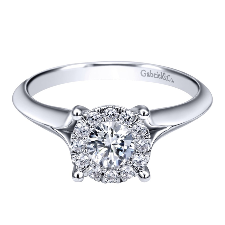 Gabriel 14 Karat Contemporary Engagement Ring ER910941W44JJ