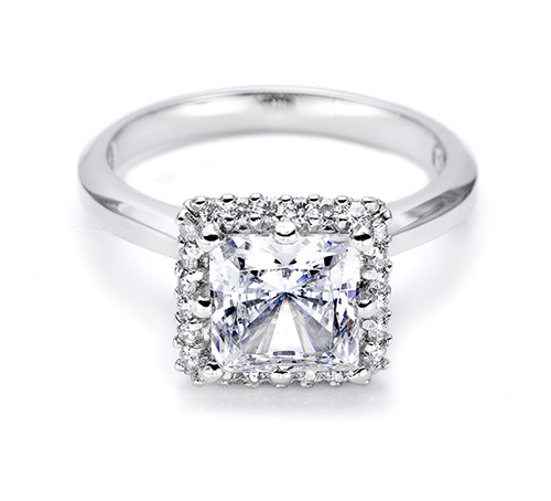 Tacori Platinum Solitaire Engagement Ring 2502PR7