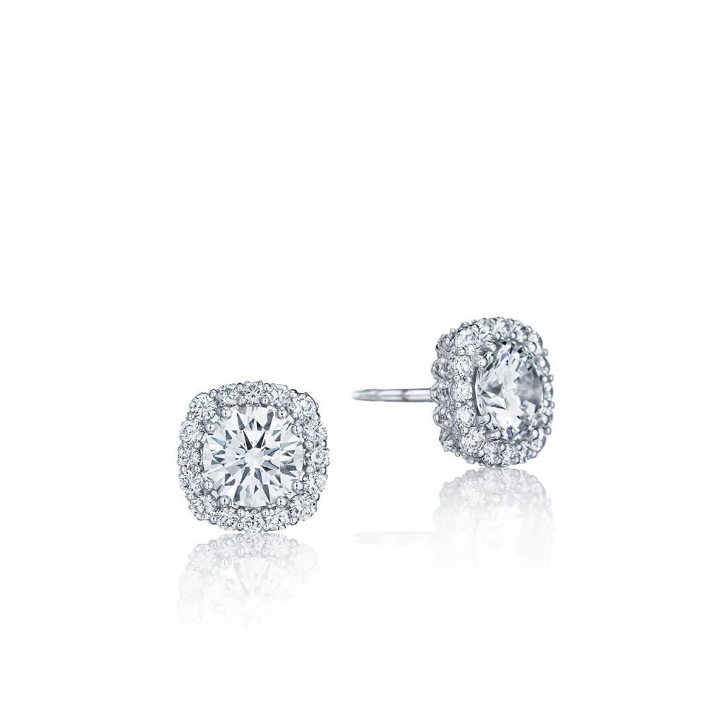 Fe803cu75 Tacori Bloom Gold Diamond Earrings