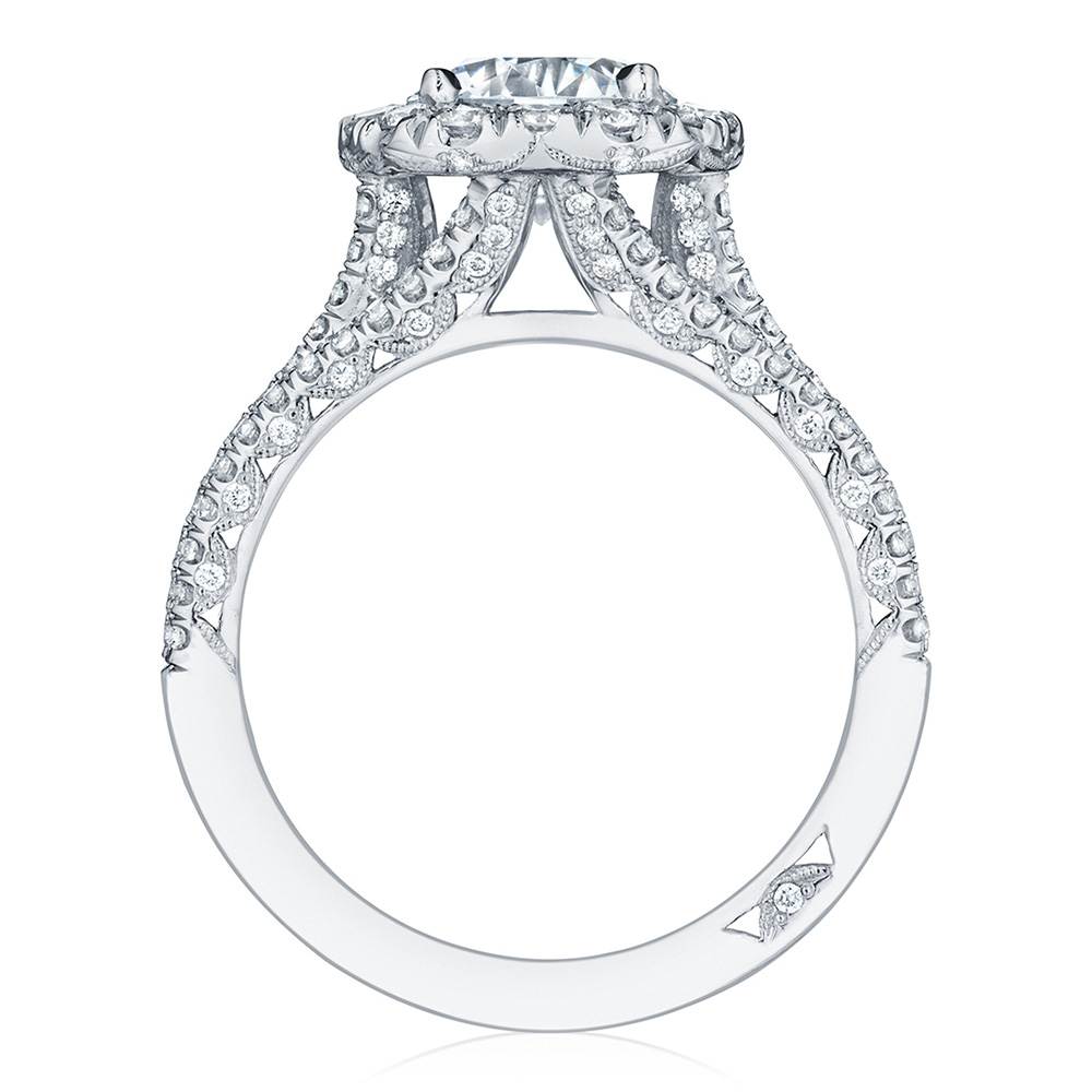 HT2551CU75 Platinum Tacori Petite Crescent Engagement Ring Alternative View 1