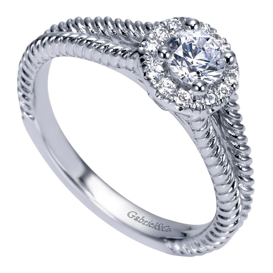 Gabriel 14 Karat Contemporary Engagement Ring ER98653W44JJ Alternative View 2