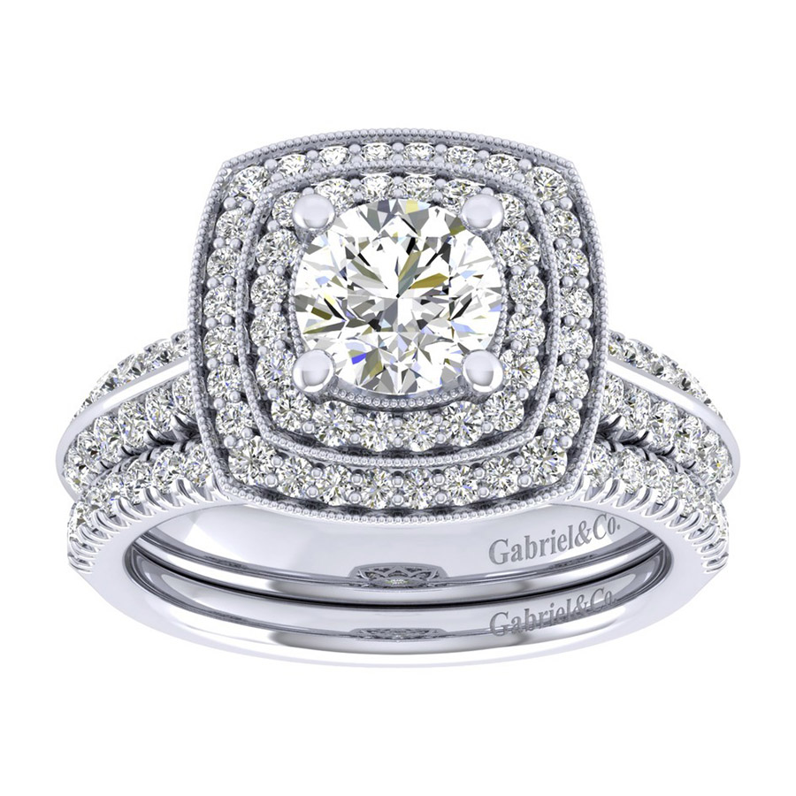 Gabriel 14 Karat Perfect Match Engagement Ring ER002B4AGW44JJ Alternative View 3