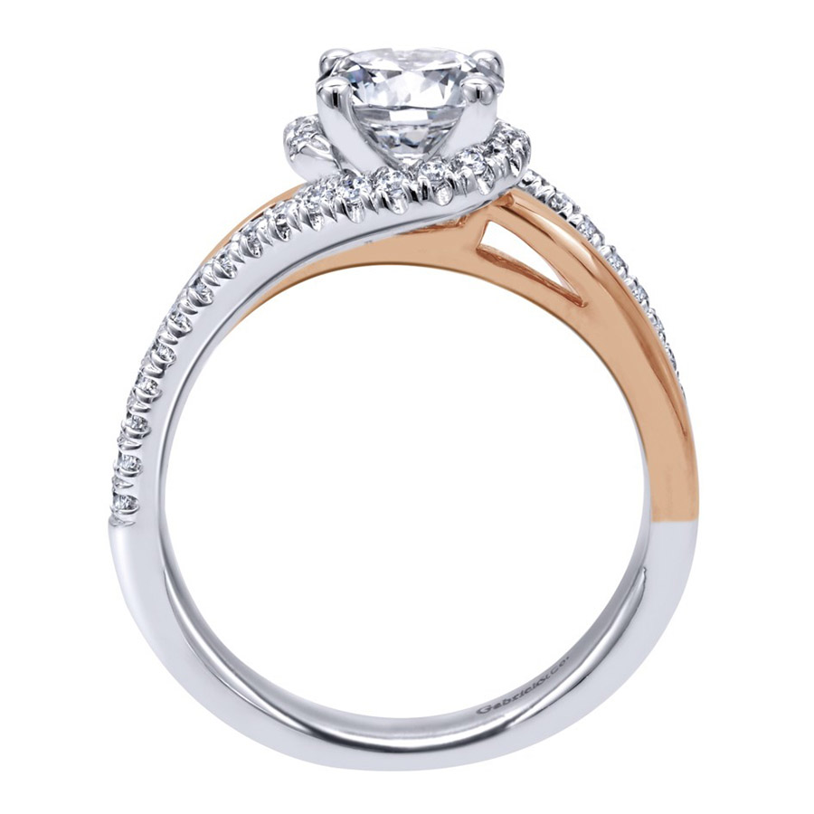 Gabriel 14 Karat Contemporary Engagement Ring ER10308T44JJ Alternative View 1