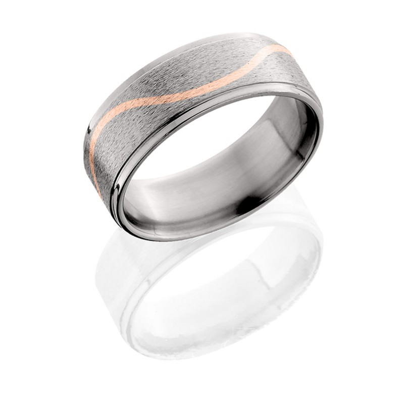 Lashbrook 8RCMLW/14KR STONE-POLISH Titanium Wedding Ring or Band
