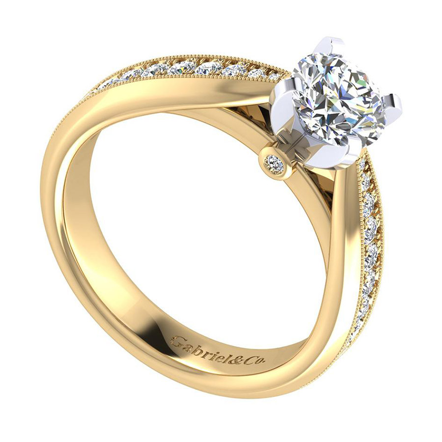 Gabriel 14 Karat Victorian Engagement Ring ER7535M44JJ Alternative View 2