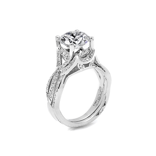 Tacori Platinum Crescent Silhouette Wedding Band 2565B SM Alternative View 1