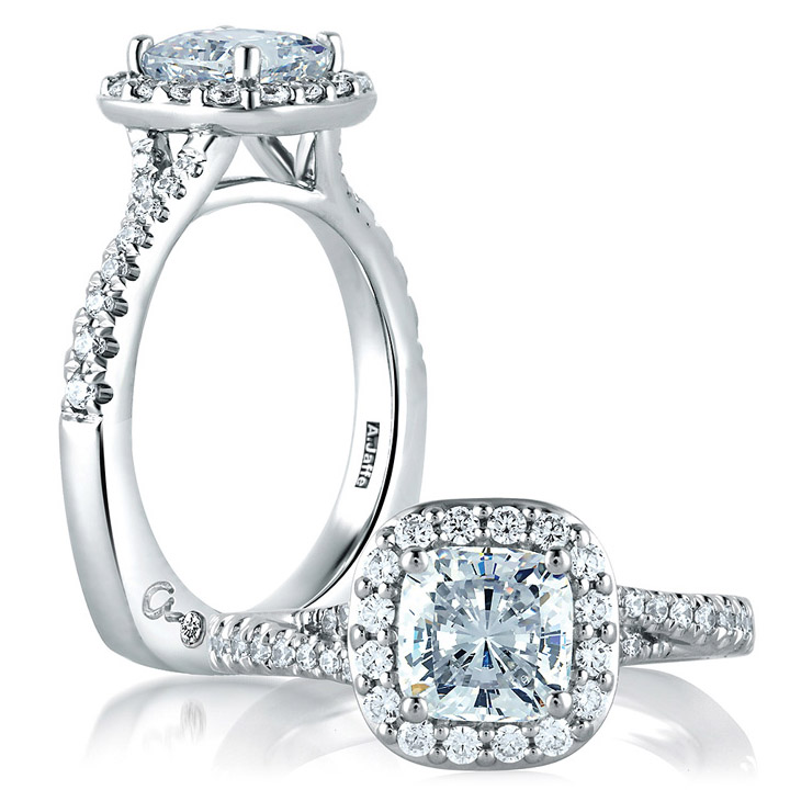 A.JAFFE Platinum Signature Engagement Ring MES579