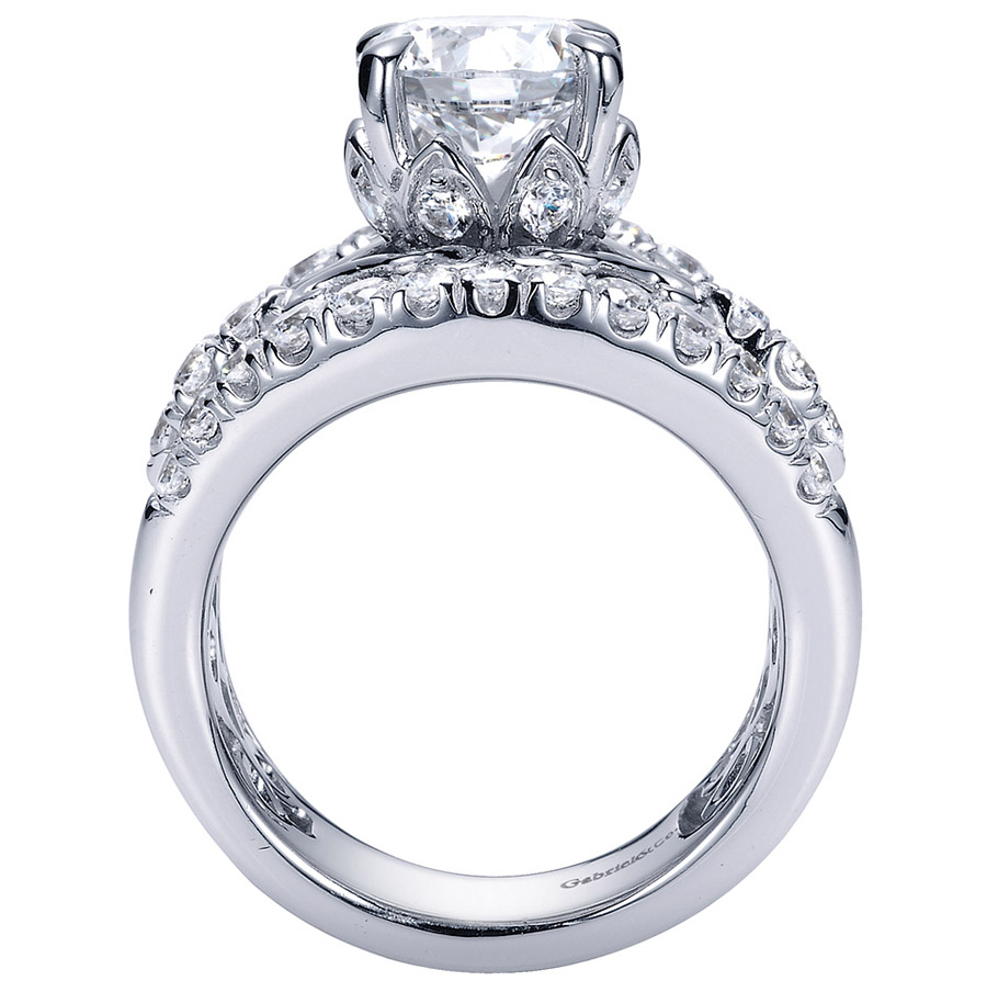 Gabriel 18 Karat Contemporary Engagement Ring ER8449W83JJ Alternative View 1