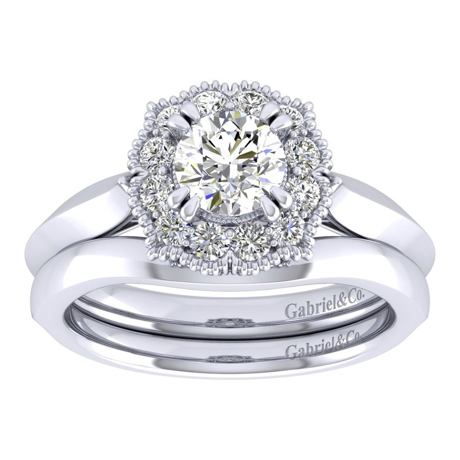 Gabriel 14 Karat Perfect Match Engagement Ring ER001B3ACW44JJ Alternative View 3