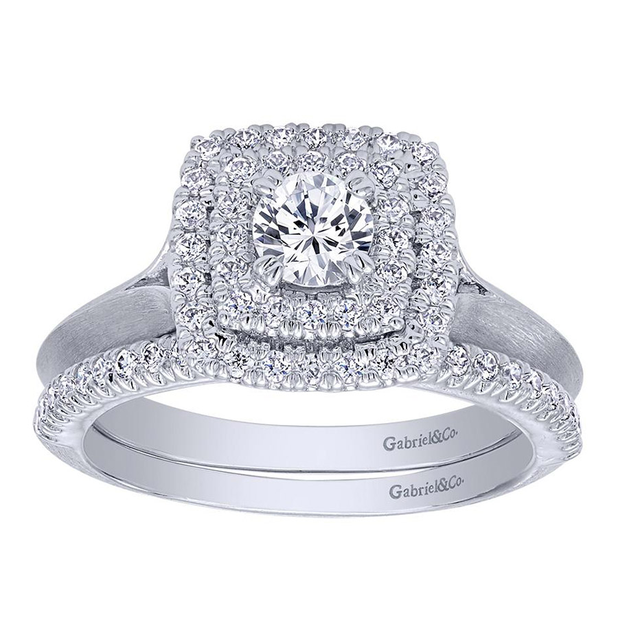 Gabriel 14 Karat Contemporary Engagement Ring ER910159W44JJ Alternative View 3