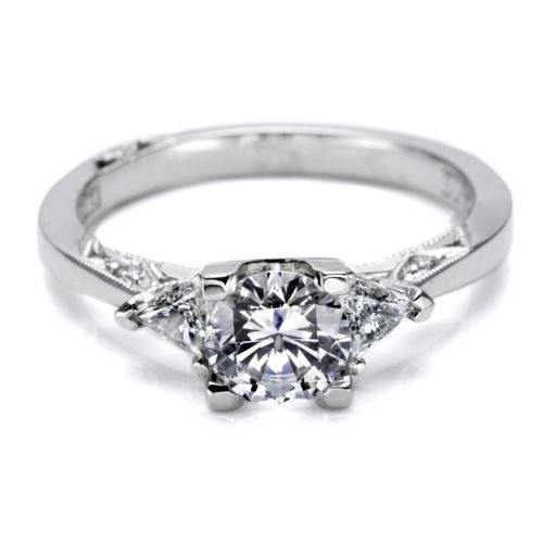 Tacori Platinum Simply Tacori Engagement Ring 2606RD6