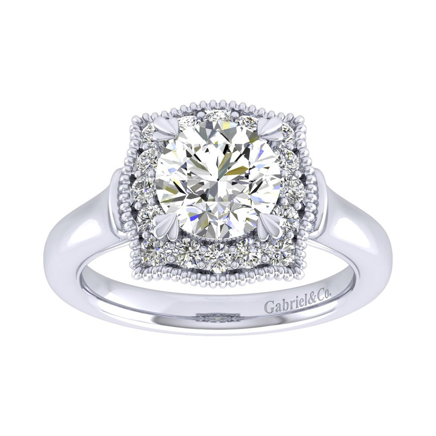 Gabriel 14 Karat Perfect Match Engagement Ring ER009C6AAW44JJ Alternative View 4