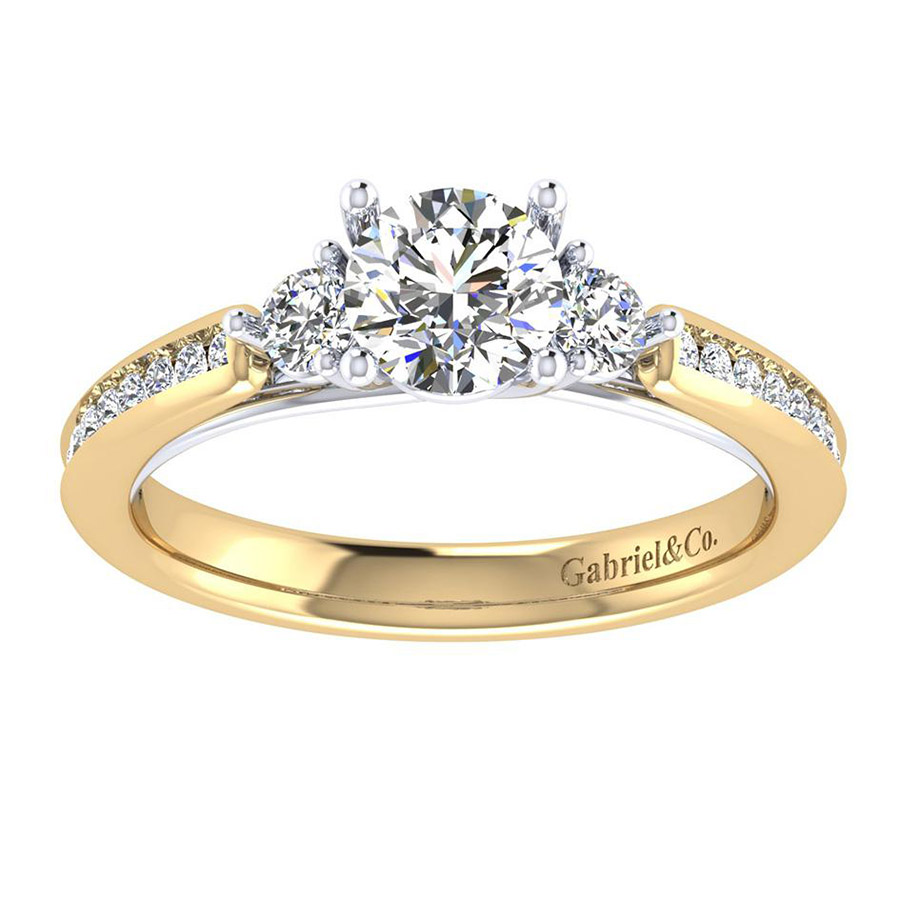 Gabriel 14 Karat Contemporary Engagement Ring ER7449M44JJ Alternative View 4