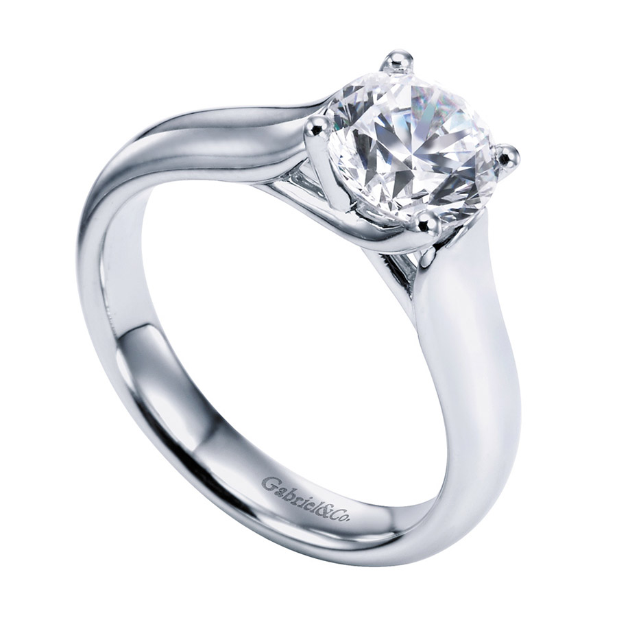 Gabriel Platinum Contemporary Engagement Ring ER6602PTJJJ Alternative View 2