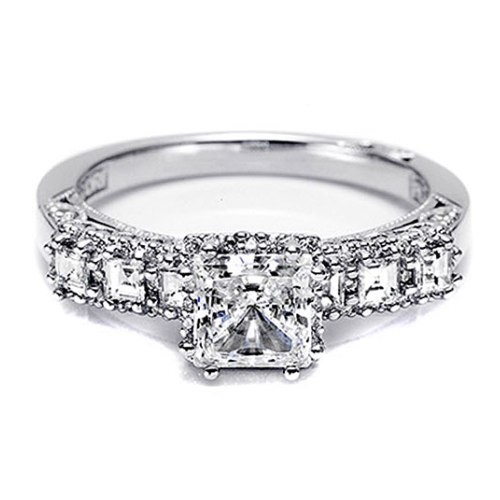 Tacori Dantela 18 Karat Engagement Ring 2629SQ