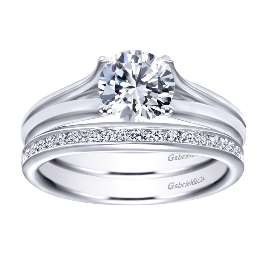 Gabriel Platinum Contemporary Engagement Ring ER7516PTJJJ Alternative View 3