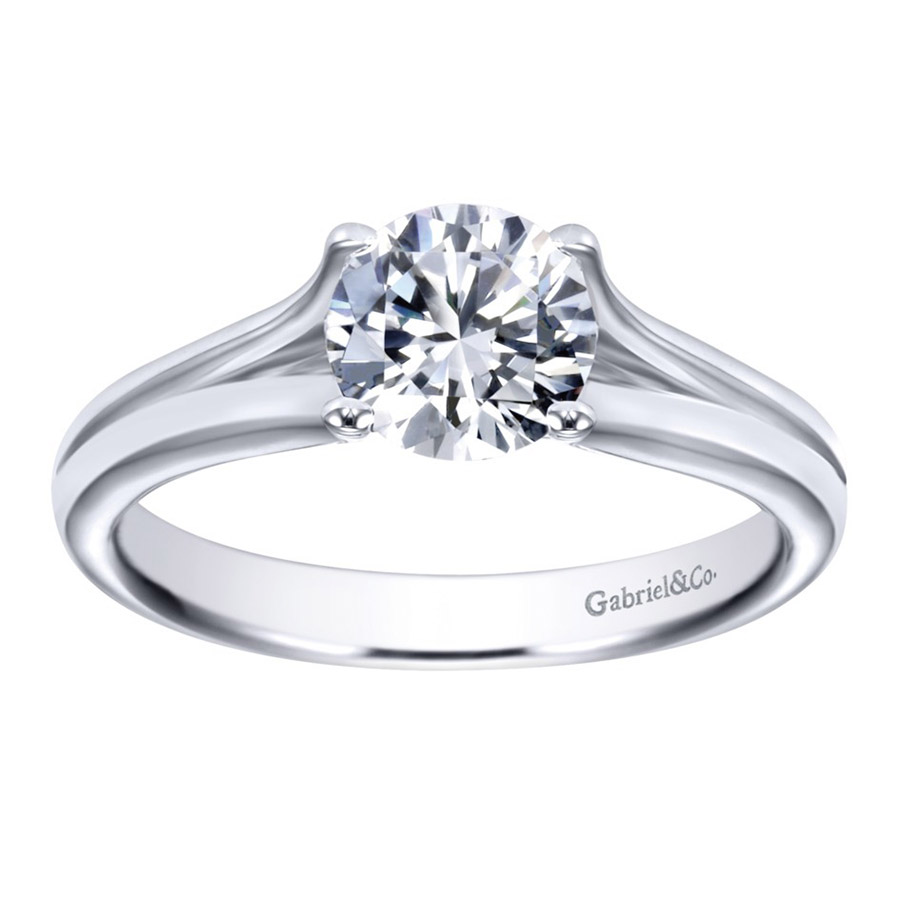 Gabriel Platinum Contemporary Engagement Ring ER7516PTJJJ Alternative View 4