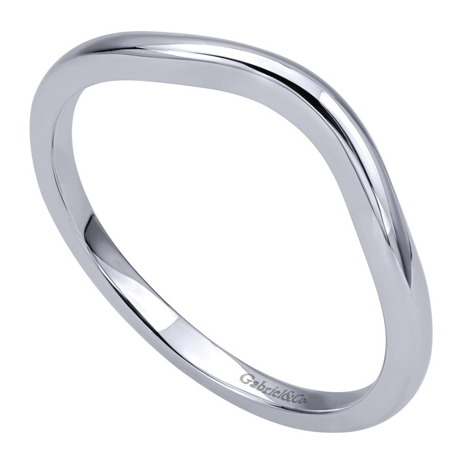 Gabriel 14 Karat Contemporary Wedding Band WB911928R0W4JJJ Alternative View 2