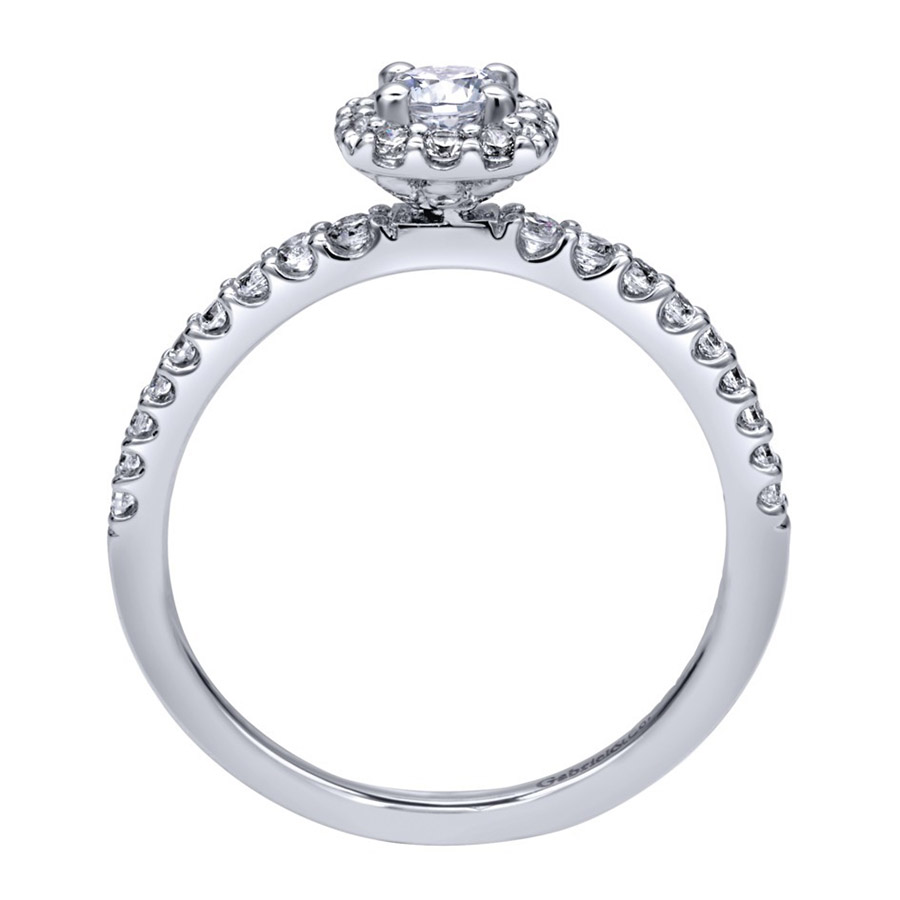 Gabriel 14 Karat Contemporary Engagement Ring ER911727R1W44JJ Alternative View 1