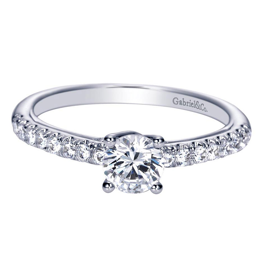 Gabriel 14 Karat Contemporary Engagement Ring ER98565W44JJ