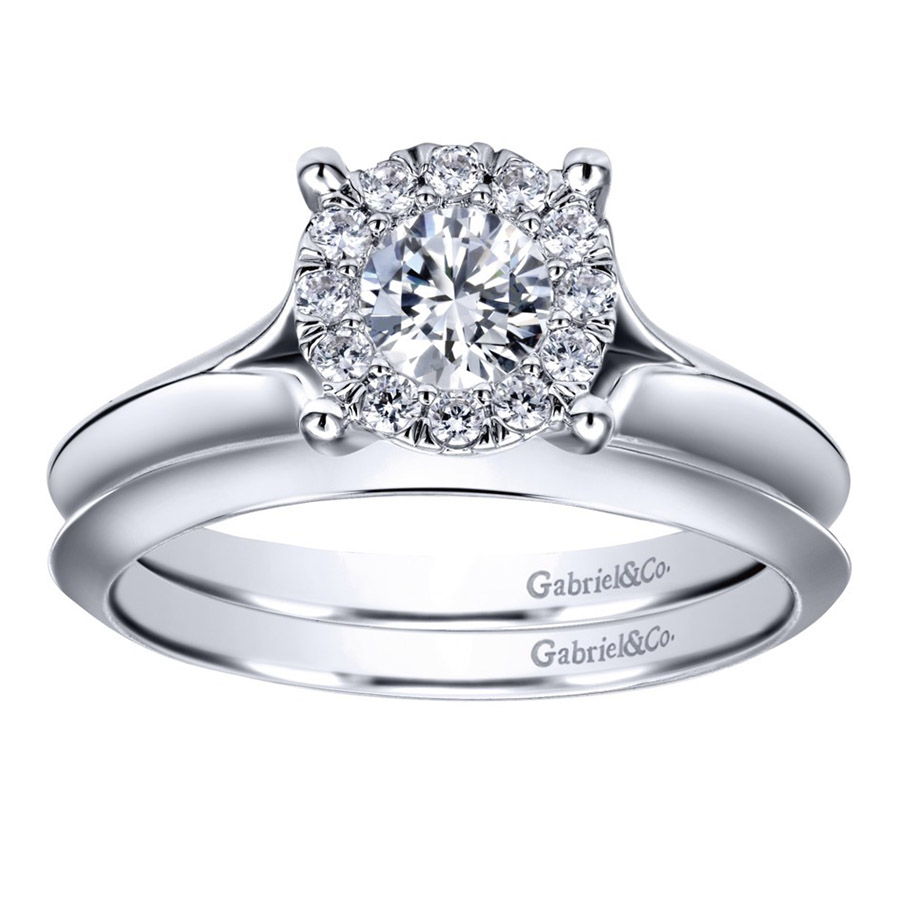 Gabriel 14 Karat Contemporary Engagement Ring ER910941W44JJ Alternative View 3