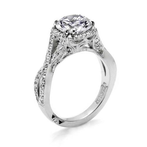 Tacori Dantela Platinum Engagement Ring 2627RDLG Alternative View 3