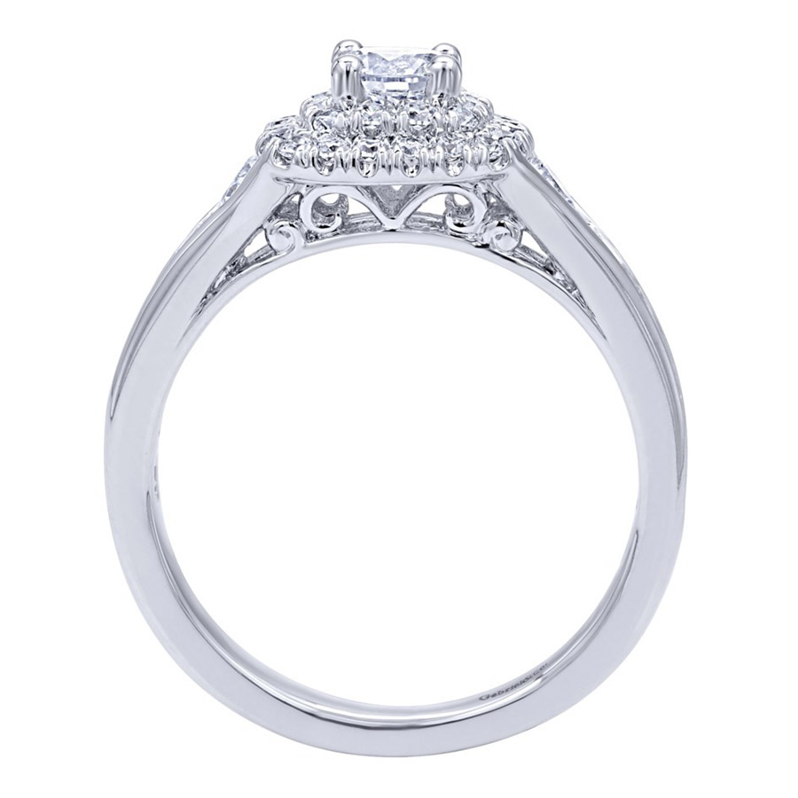 Gabriel 14 Karat Contemporary Engagement Ring ER910162W44JJ Alternative View 1