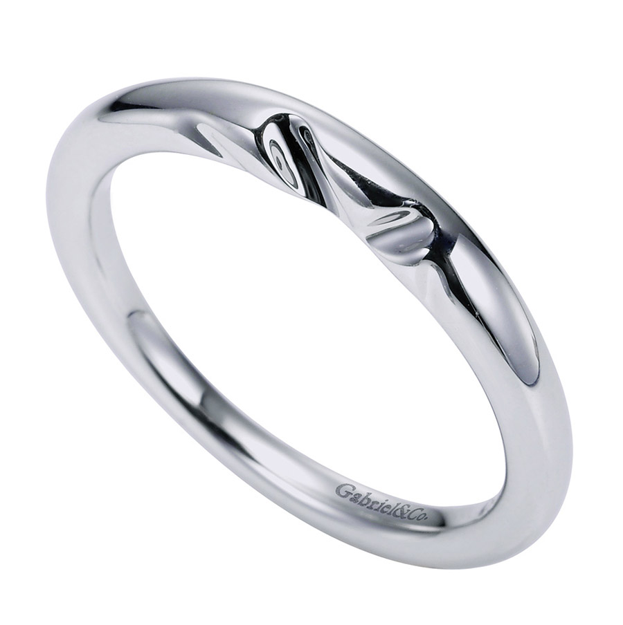 Gabriel Platinum Contemporary Wedding Band WB5916PTJJJ Alternative View 2