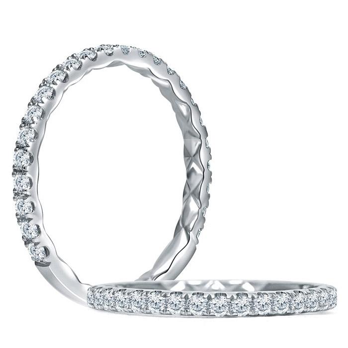 95def84b853e1 A.JAFFE Quilted Collection 18 Karat Diamond Wedding Ring MR1865Q / 34
